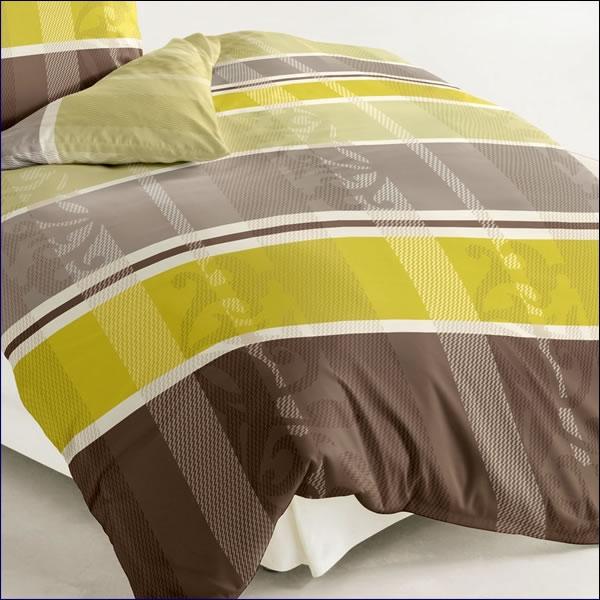 bierbaum biber bettw sche 200x200 cm design 64917 limone leinen natur gestreift ebay. Black Bedroom Furniture Sets. Home Design Ideas