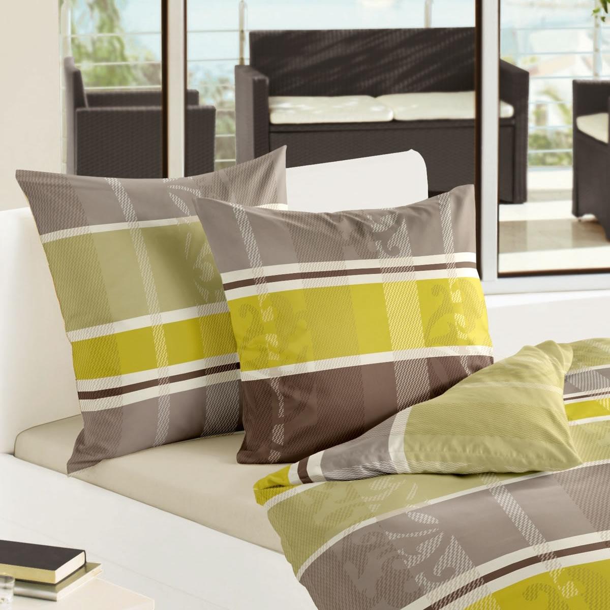 bierbaum biber bettw sche 200x200 cm design 64917 limone gestreift. Black Bedroom Furniture Sets. Home Design Ideas
