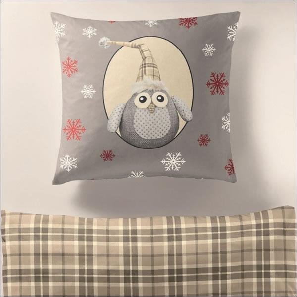 bierbaum biber bettw sche 200x200 cm 65801 sand kariert eule schneestern winter ebay. Black Bedroom Furniture Sets. Home Design Ideas