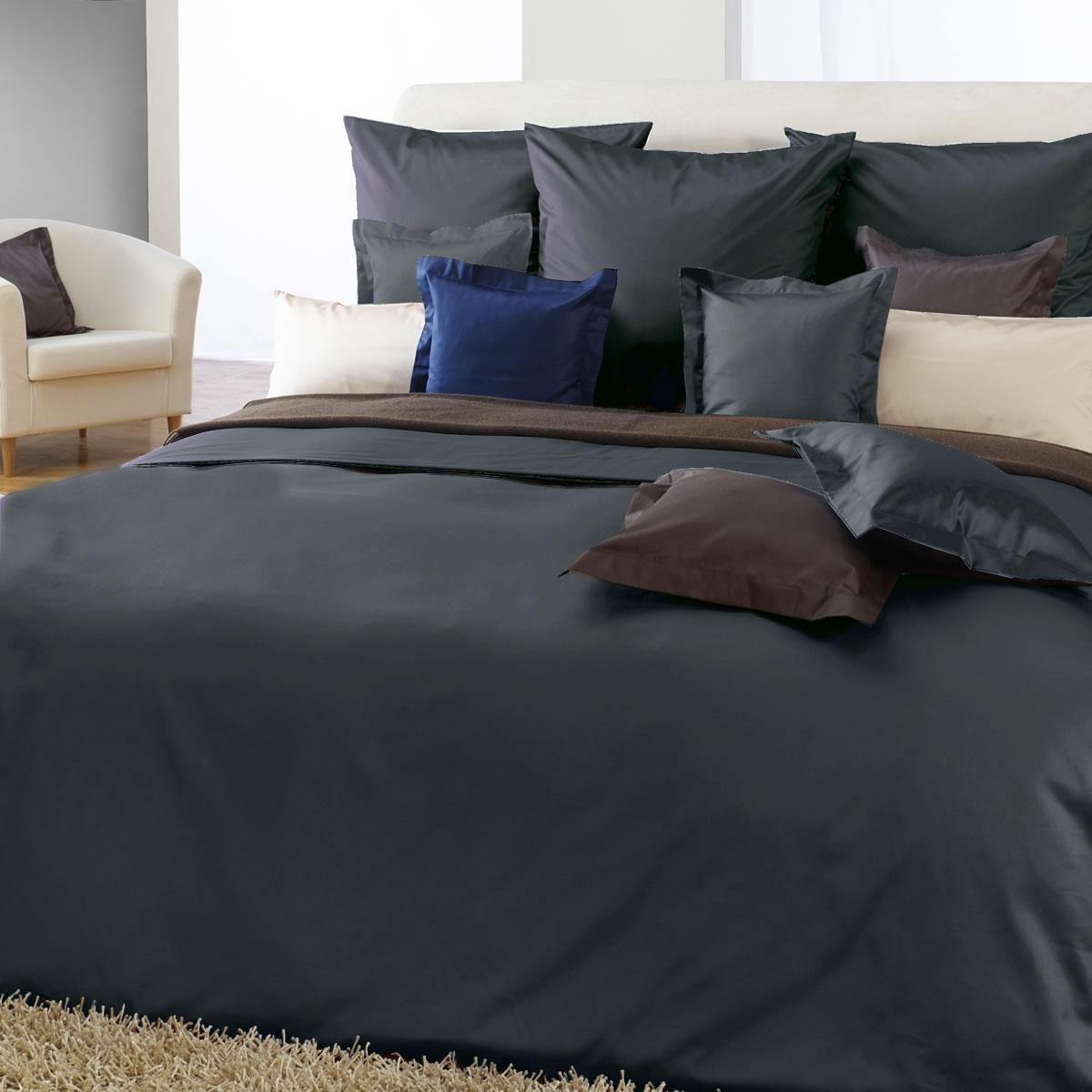 curt bauer uni mako satin bettw sche in 200x220 cm in verschiedenen farben ebay. Black Bedroom Furniture Sets. Home Design Ideas