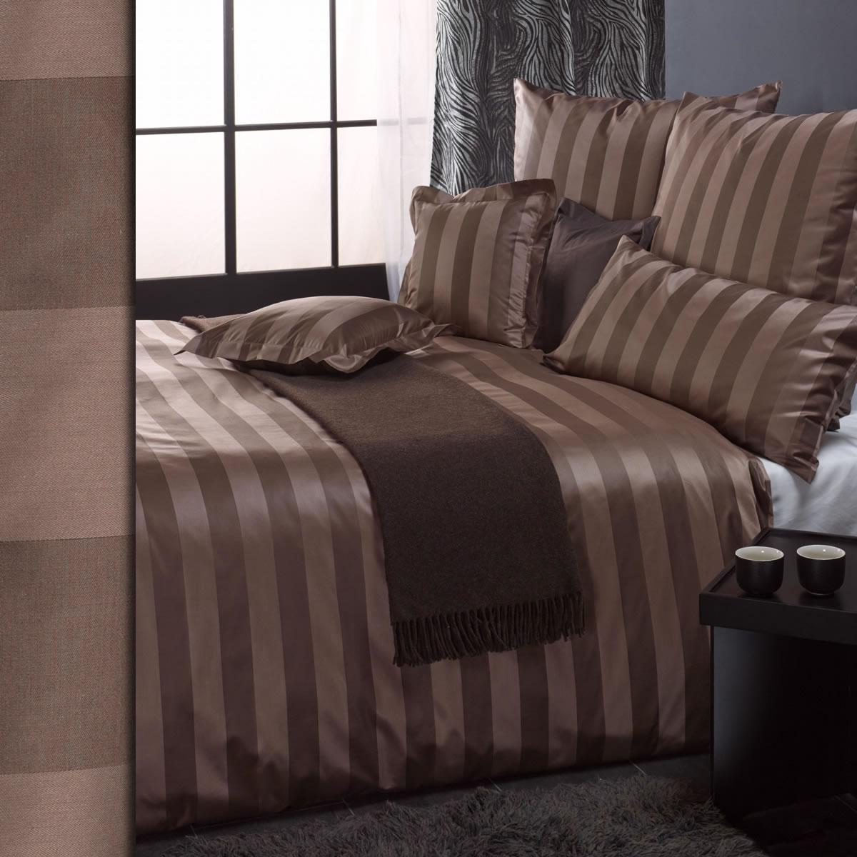 curt bauer mako brokat damast bettw sche como 200x220 cm 2044 blockstreifen ebay. Black Bedroom Furniture Sets. Home Design Ideas