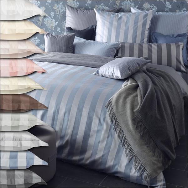 curt bauer mako brokat damast bettw sche como 2044 blockstreifen kissenbezug neu. Black Bedroom Furniture Sets. Home Design Ideas