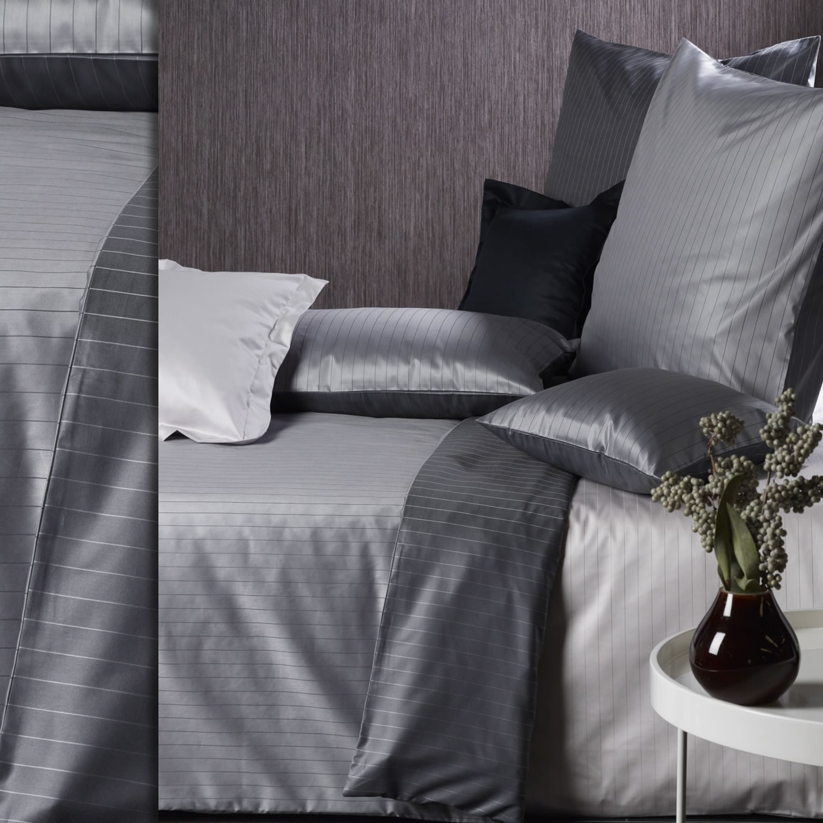 curt bauer mako brokat damast bettw sche ferrara 200x220 cm 2452 nadelstreifen ebay. Black Bedroom Furniture Sets. Home Design Ideas