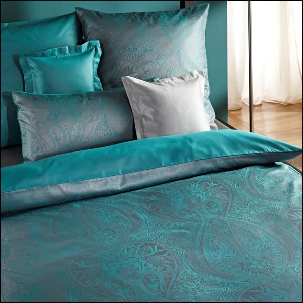 curt bauer mako brokat damast bettw sche oder kissenbezug delhi 2481 1833 petrol ebay. Black Bedroom Furniture Sets. Home Design Ideas