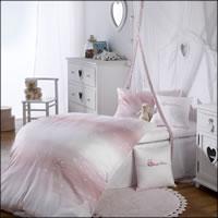 Curt Bauer Kinderbettwäsche Programm Teddys / Herzchen 2485-0106 rosa