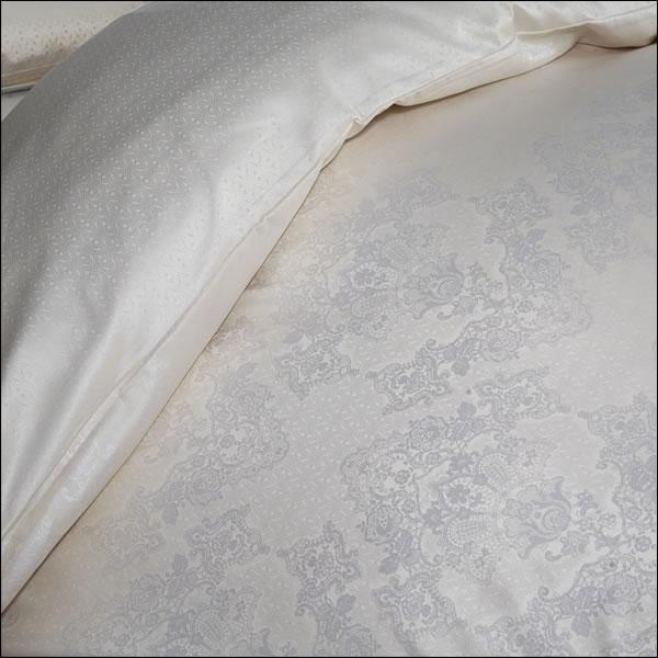 curt bauer mako brokat damast bettw sche juliette design 2496 1044 vanille ebay. Black Bedroom Furniture Sets. Home Design Ideas