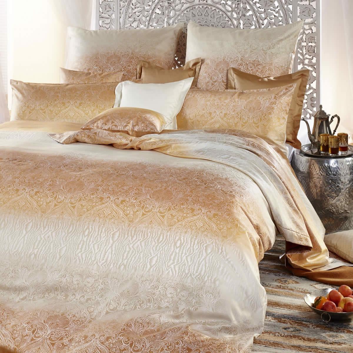 curt bauer mako brokat damast bettw sche soraya 2515 0133 safran. Black Bedroom Furniture Sets. Home Design Ideas