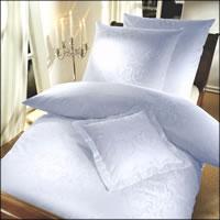 Curt Bauer Mako-Brokat-Damast Bettwäsche Florenz 2680-0000 Farbe weiß
