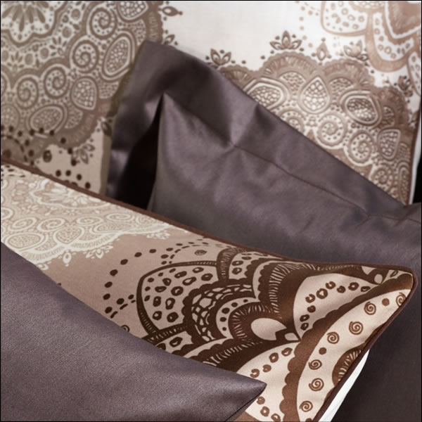 curt bauer mako interlock jersey bettw sche w stenblume design 6189 1216 mocca ebay. Black Bedroom Furniture Sets. Home Design Ideas