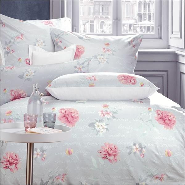 curt bauer mako satin wende bettw sche allegra 6200 1229 grau rosa blumen bl ten ebay. Black Bedroom Furniture Sets. Home Design Ideas