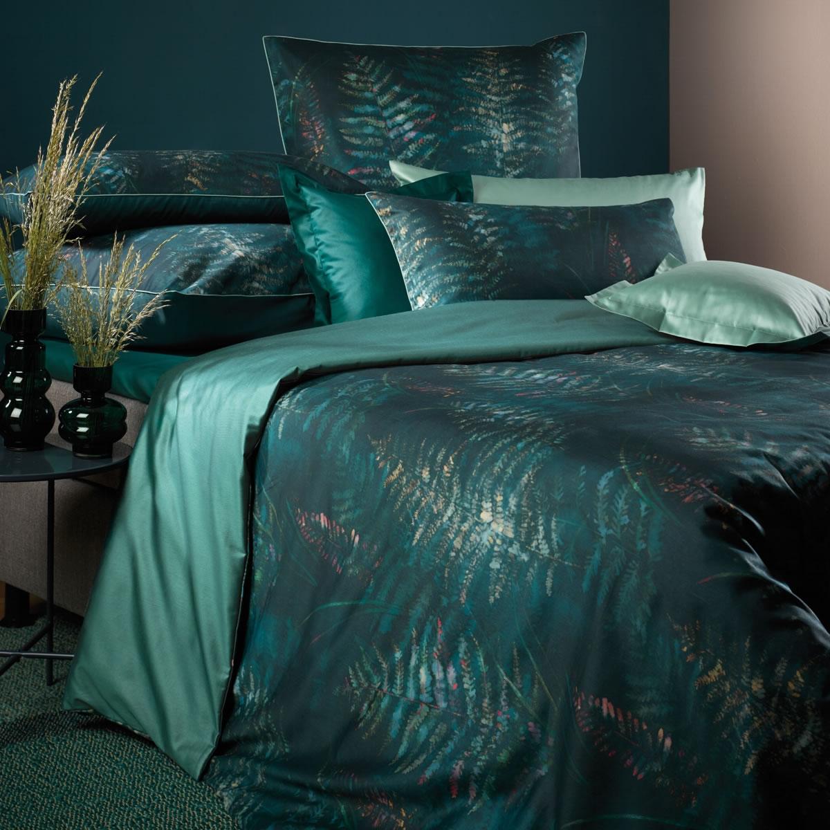 curt bauer mako satin wende bettw sche abiona 6207 1252 greenery farn. Black Bedroom Furniture Sets. Home Design Ideas