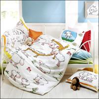 Fleuresse Kids Renforcé Kinder-Bettwäsche in 100x135 cm Design Schaf