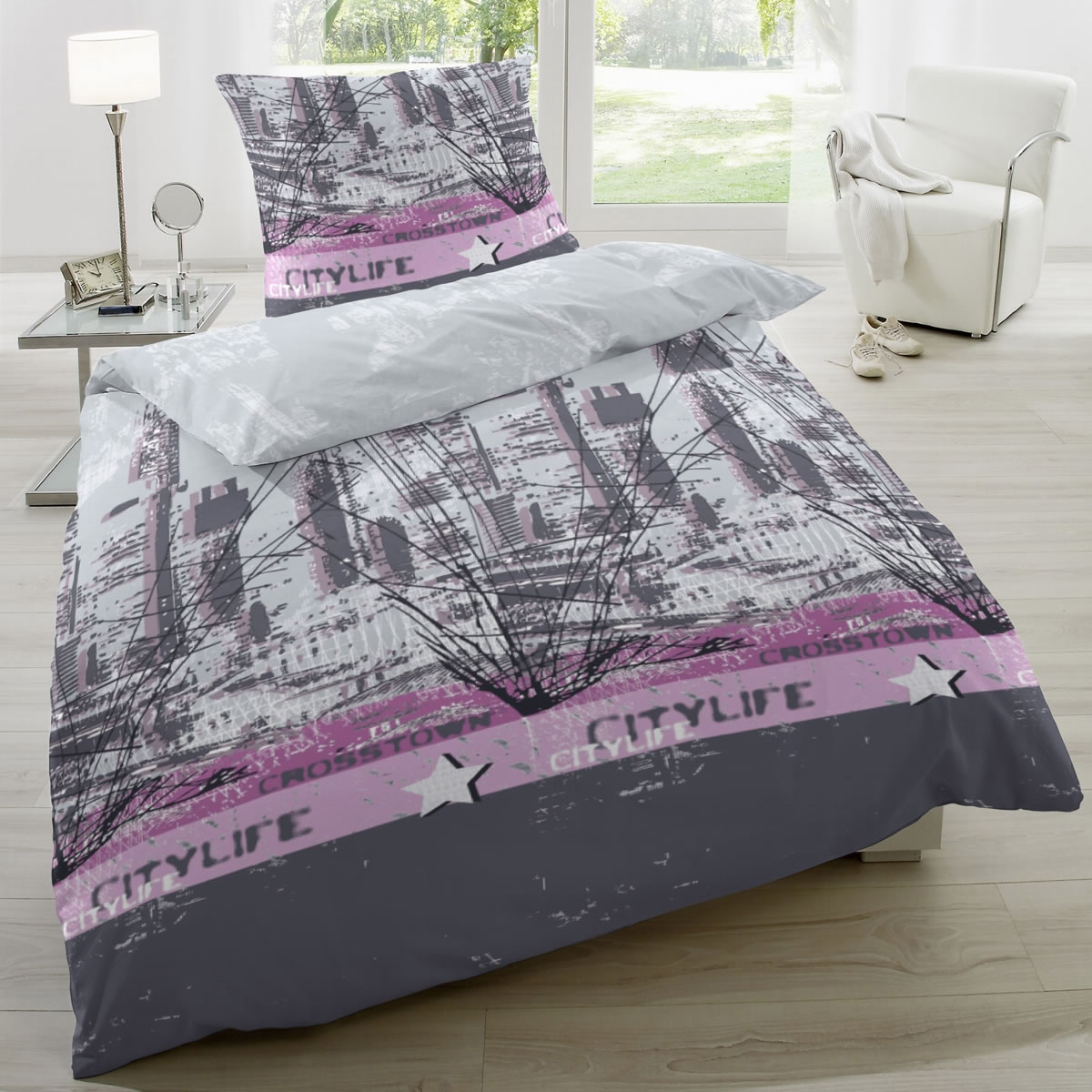 hahn renforce bettw sche 135x200 cm 123028 084. Black Bedroom Furniture Sets. Home Design Ideas