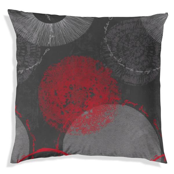 edel flanell bettw sche 200x200 cm 174012 082 anthrazit rot grau kreise biber ebay. Black Bedroom Furniture Sets. Home Design Ideas