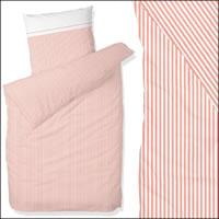 Hahn Satin Bettwäsche 200x200 cm 8243004-020 rosa weiß gestreift