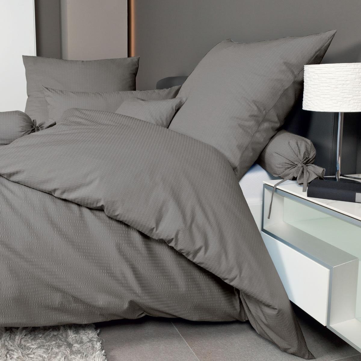janine uni mako soft seersucker bettw sche 0125 piano 135x200 155x200 155x220 ebay. Black Bedroom Furniture Sets. Home Design Ideas