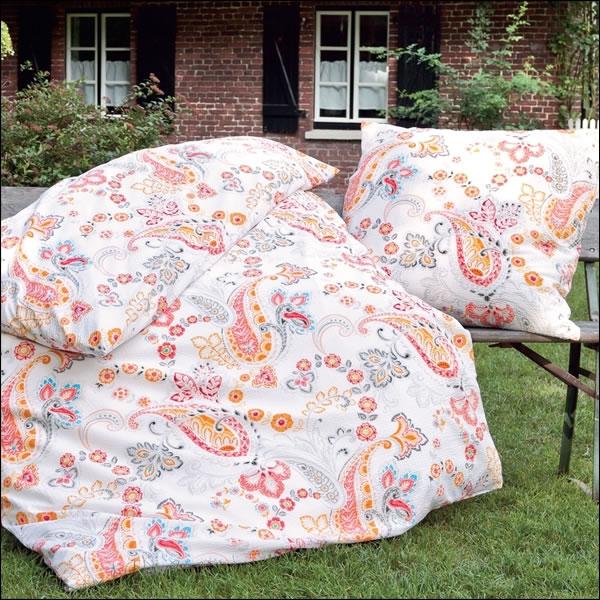 janine mako soft seersucker bettw sche tango in 200x220 koralle paisley 20021 04. Black Bedroom Furniture Sets. Home Design Ideas