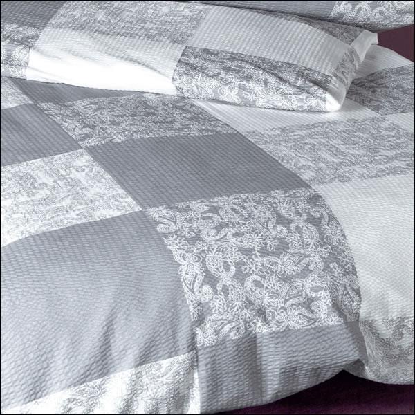 janine mako soft seersucker bettw sche tango 20037 08 silber grau wei kariert ebay. Black Bedroom Furniture Sets. Home Design Ideas