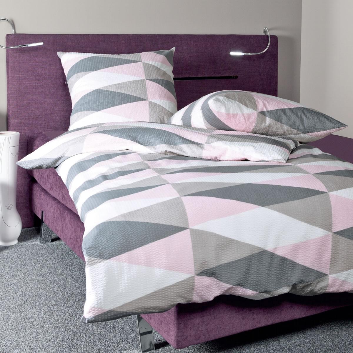 janine mako soft seersucker bettw sche in 135x200 cm 1b ware 20039 01. Black Bedroom Furniture Sets. Home Design Ideas