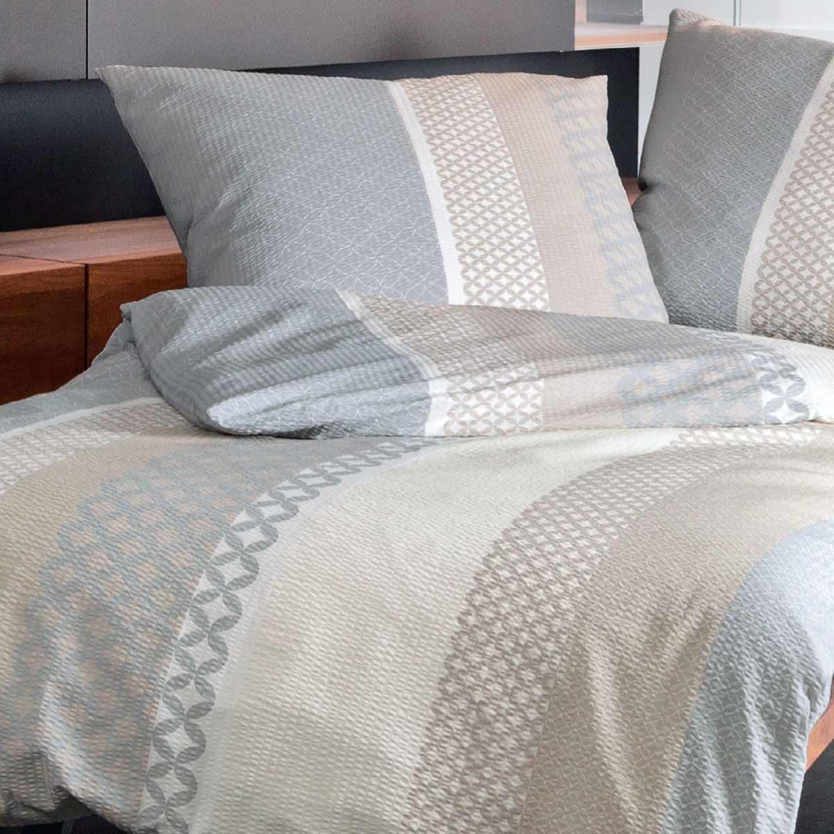 janine mako soft seersucker bettw sche in 135x200 cm 1b ware 20043 07. Black Bedroom Furniture Sets. Home Design Ideas