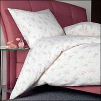 Janine Mako Soft Seersucker Bettwäsche Tango 20057-01 rosa weiß Blüten