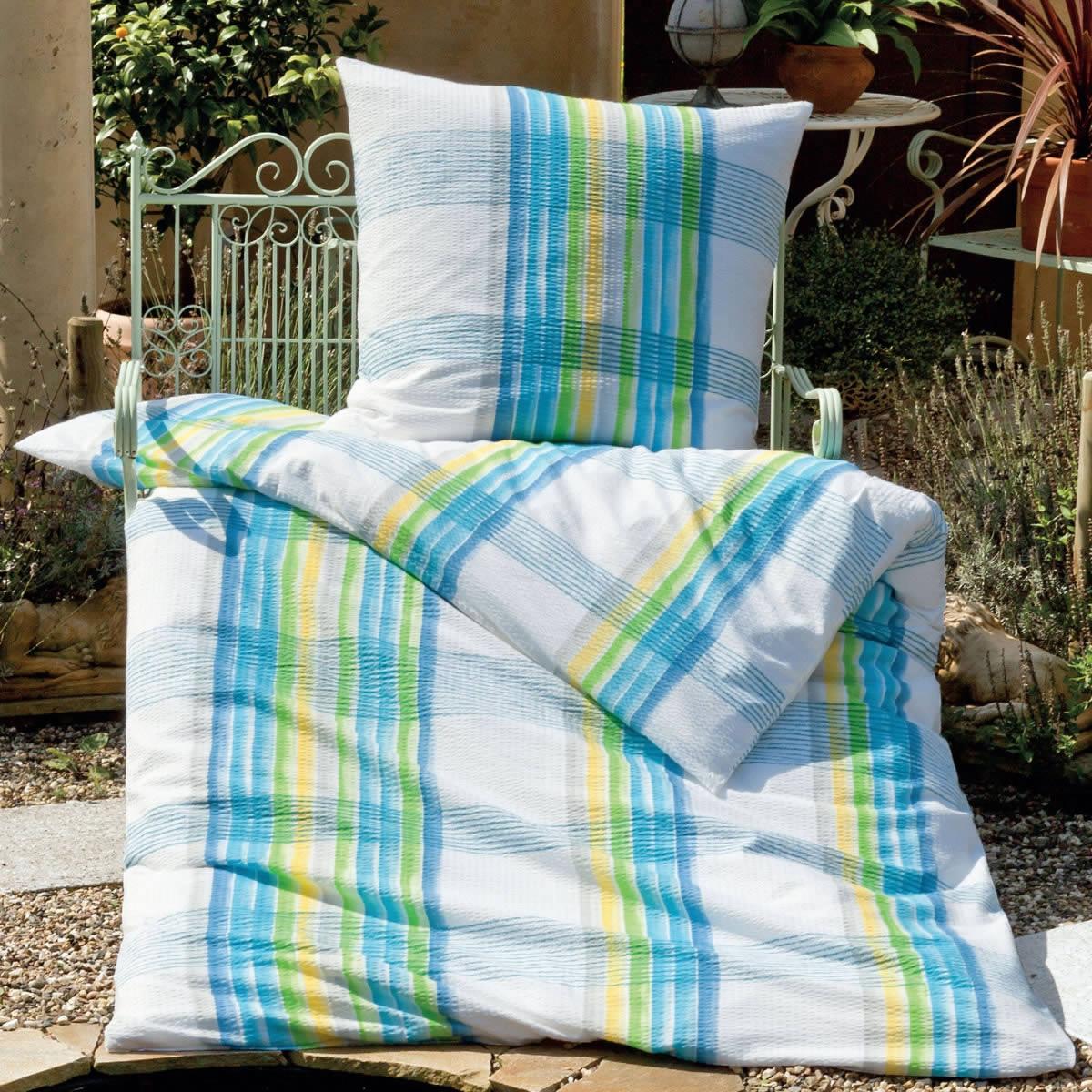 janine mako soft seersucker bettw sche in 155x220 cm 1b ware 2421 02. Black Bedroom Furniture Sets. Home Design Ideas