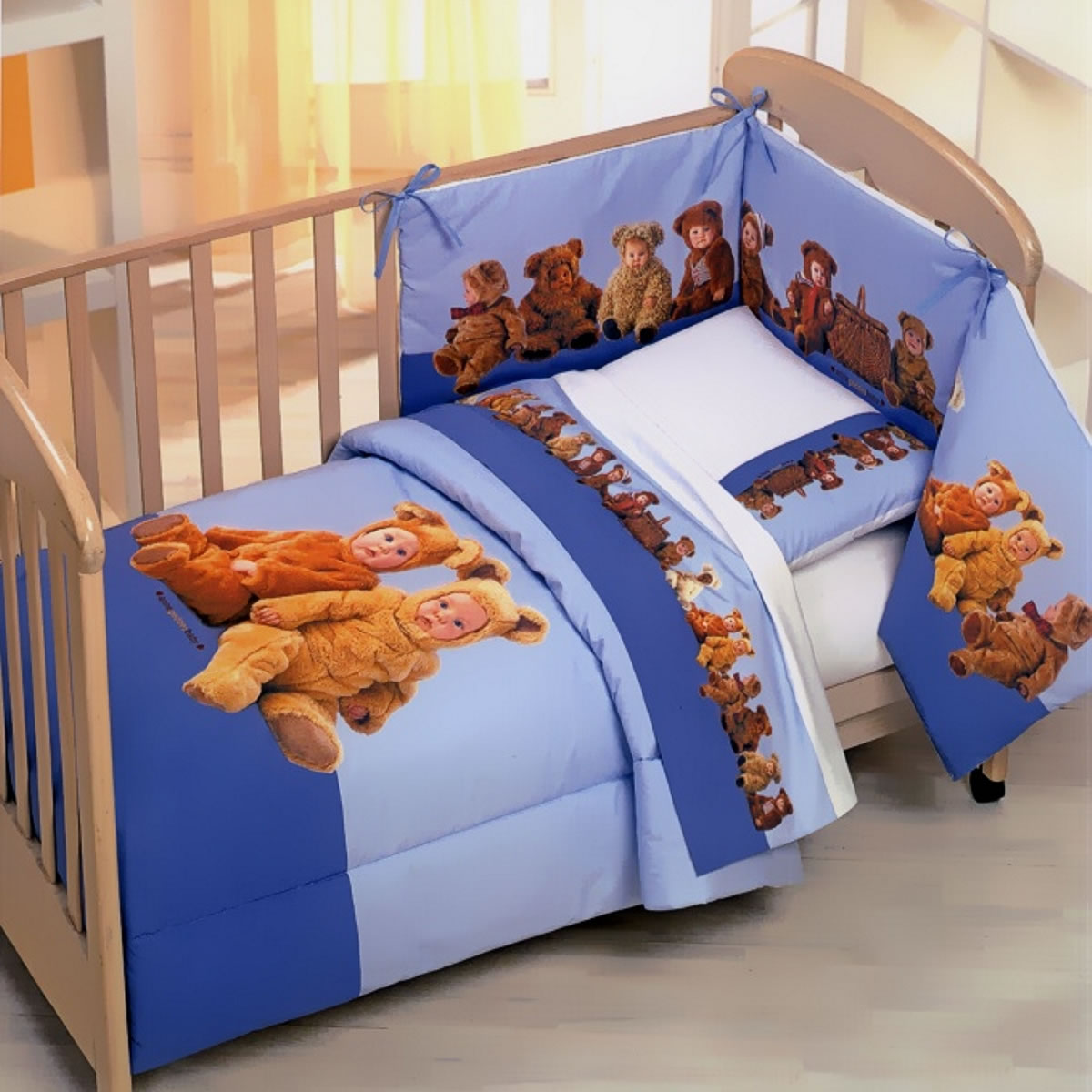 anne geddes 2 tlg kinderbettw sche 100x135 cm teddy bears picnic 2952. Black Bedroom Furniture Sets. Home Design Ideas