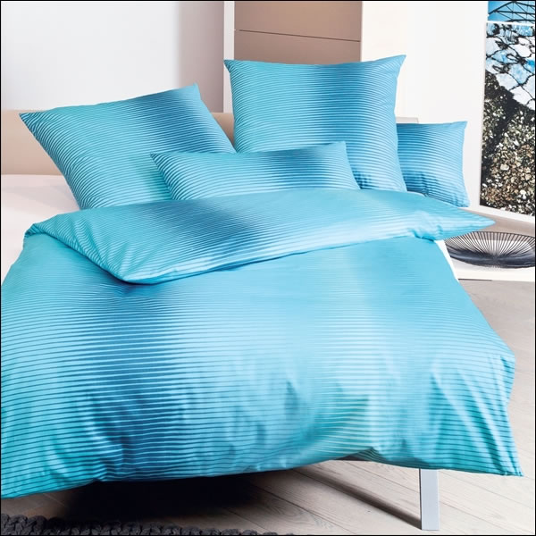 janine mako satin bettw sche messina 43021 02 aquarius t rkis blau querstreifen ebay. Black Bedroom Furniture Sets. Home Design Ideas