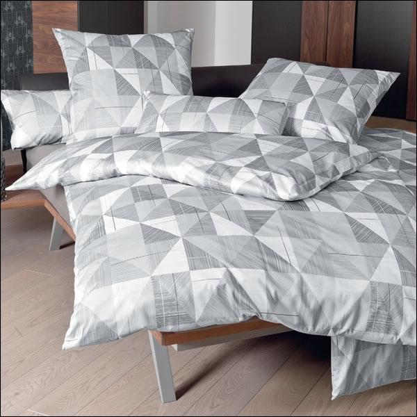 janine mako satin bettw sche messina design 43024 08 silber graphit grau modern ebay. Black Bedroom Furniture Sets. Home Design Ideas