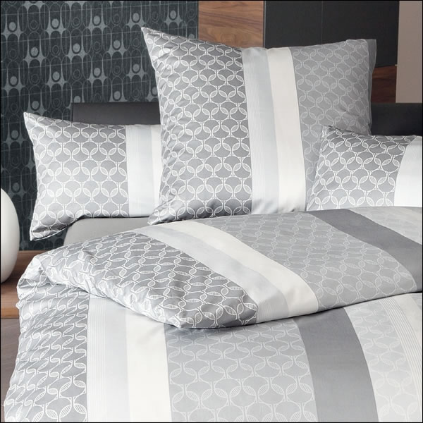 janine mako satin bettw sche messina design 43025 08 silber grau ecru modern ebay. Black Bedroom Furniture Sets. Home Design Ideas