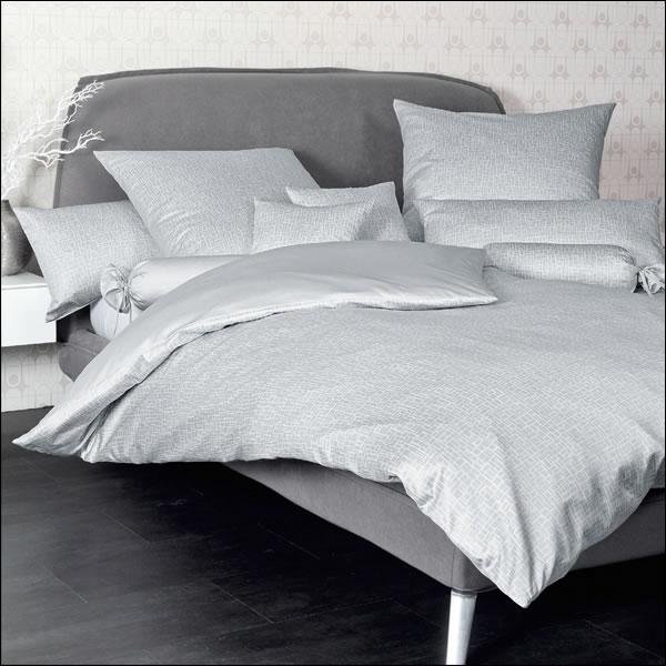 janine interlock feinjersey wende bettw sche carmen 53029 08 silber grau modern ebay. Black Bedroom Furniture Sets. Home Design Ideas