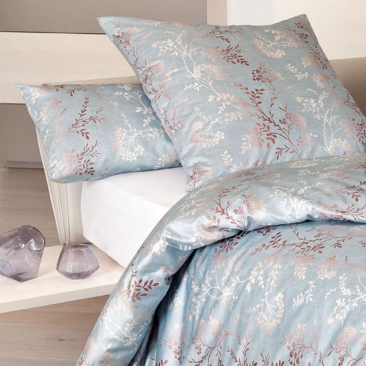 janine interlock fein jersey bettw sche carmen 53039 08 nebelmeer henna grau ebay. Black Bedroom Furniture Sets. Home Design Ideas