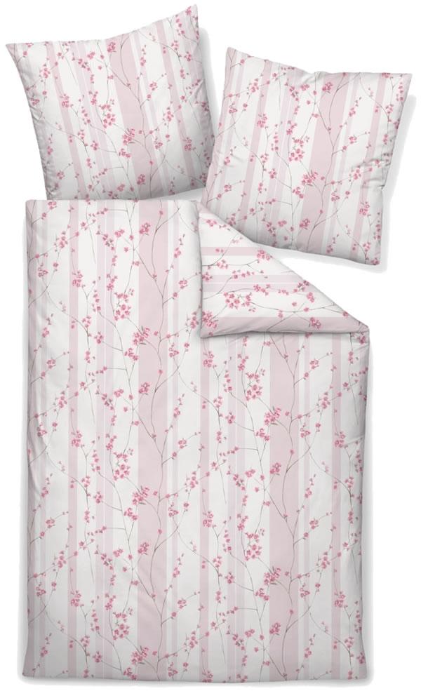 1445bef8881923 Janine Mako Satin Bettwäsche Messina 43043-01 rosé rosa Blumen