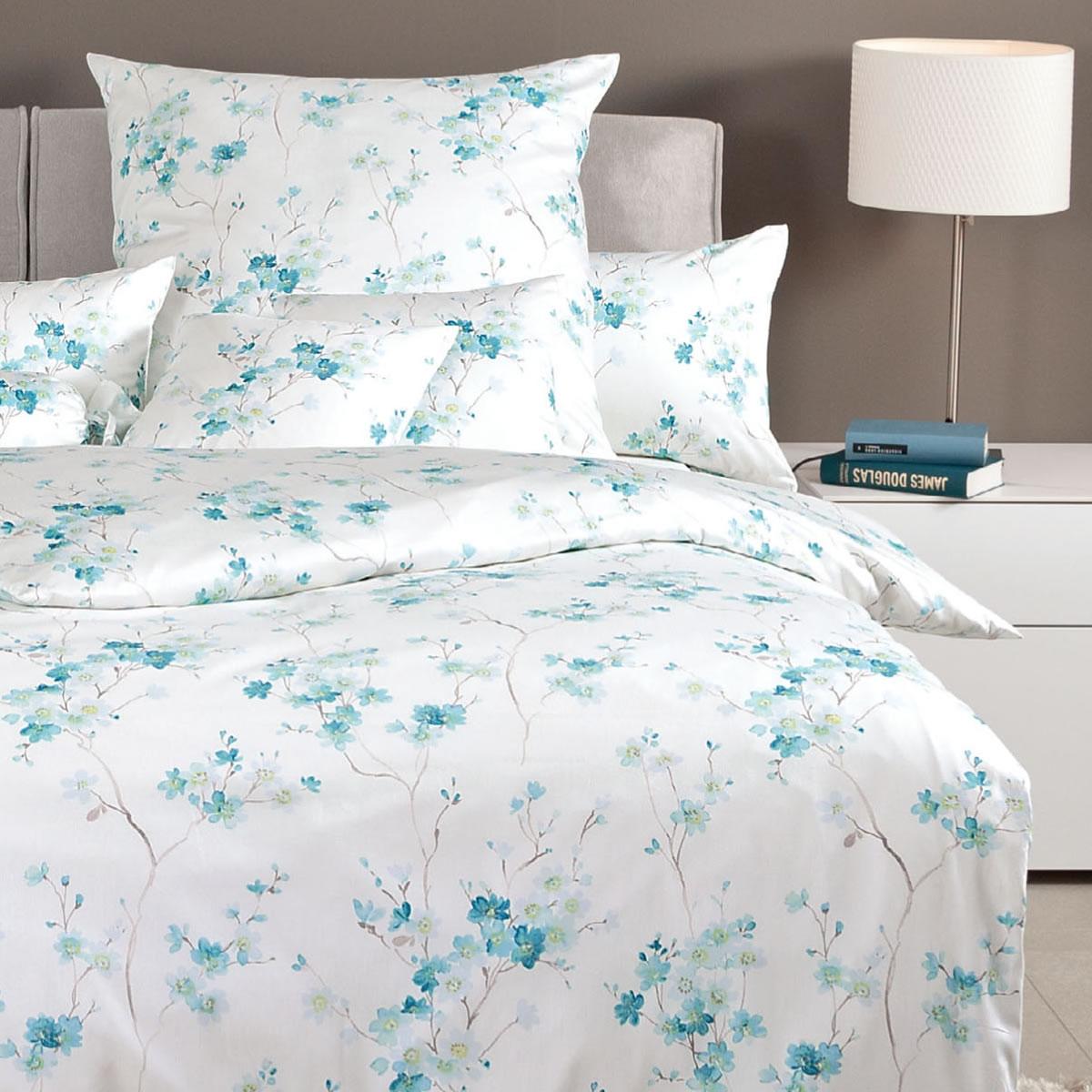 janine interlock fein jersey bettw sche carmen 53048 02 blaut rkis grau blumen ebay. Black Bedroom Furniture Sets. Home Design Ideas