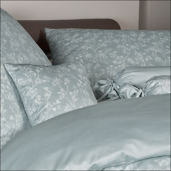 janine mako satin wende bettw sche messina 43063 06 jadehauch gr n bl tter ebay. Black Bedroom Furniture Sets. Home Design Ideas