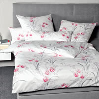 Janine Interlock Fein-Jersey Bettwäsche Carmen 53080-01 rosa grau