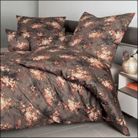 Janine Mako Satin Bettwäsche Messina 43097-04 living coral Blumen