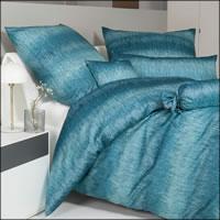 Janine Mako Satin Bettwäsche Messina 43124-02 Strktur ägäischblau - alle Größen