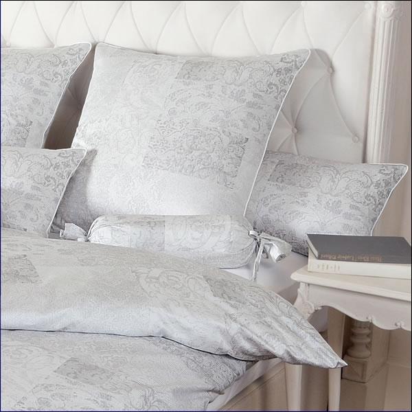 janine schweizer mako satin bettw sche white dreams 4613 08 silbergrau wei ebay. Black Bedroom Furniture Sets. Home Design Ideas