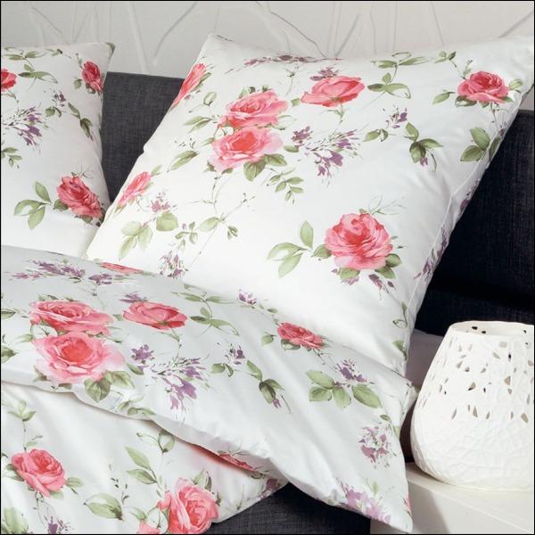 janine mako satin bettw sche messina design 4777 01 rot lind wei rosen blumen. Black Bedroom Furniture Sets. Home Design Ideas