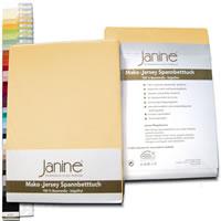 Janine Classic Mako Jersey Spannbettlaken von 90x190 bis 200x200 cm