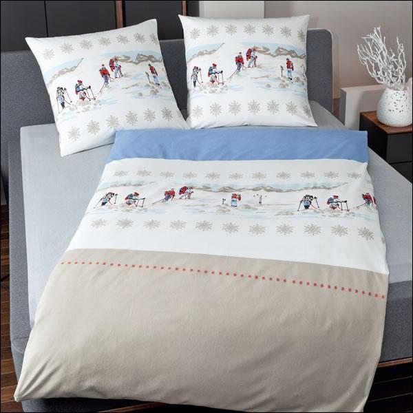 janine biber bettw sche davos 200x200 cm design 6461 02 wintersport. Black Bedroom Furniture Sets. Home Design Ideas
