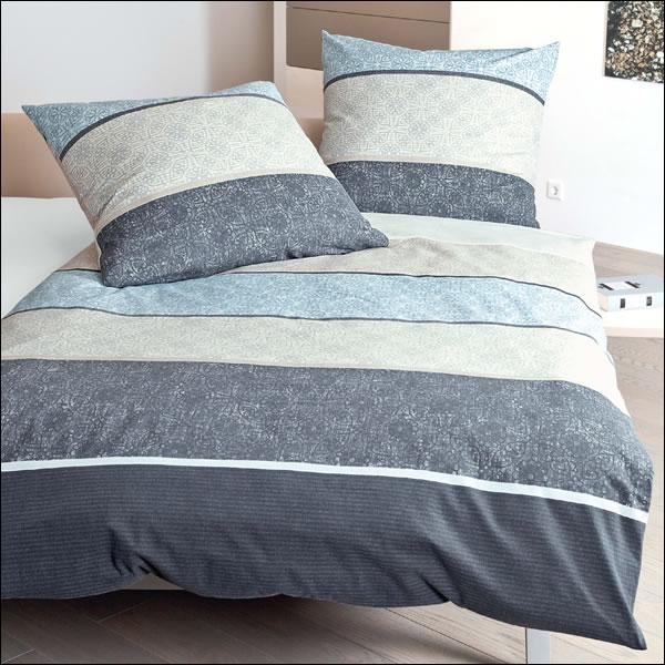 janine feinbiber bettw sche davos 65016 02 jeansblau modern. Black Bedroom Furniture Sets. Home Design Ideas