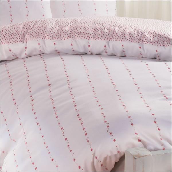 janine edel flanell bettw sche chinchilla s romantico 7505 01 rosa wei rosen ebay. Black Bedroom Furniture Sets. Home Design Ideas