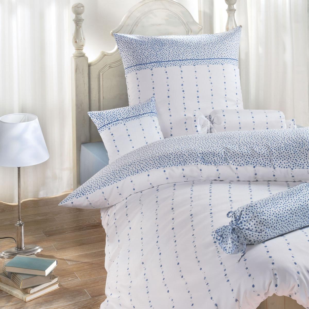 janine edel flanell bettw sche chinchilla romantico 7505 02 blau rosen. Black Bedroom Furniture Sets. Home Design Ideas