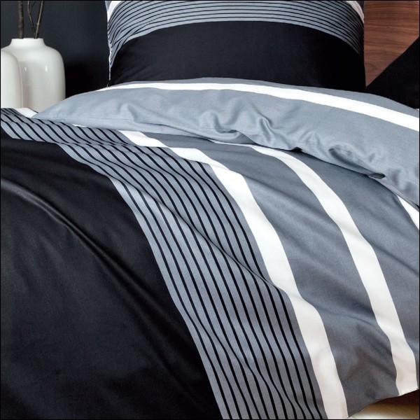 janine j d mako satin bettw sche 135x200 cm design 8468 08 silber schwarz wei ebay. Black Bedroom Furniture Sets. Home Design Ideas