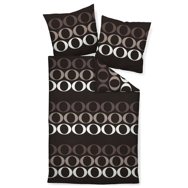 janine mako satin bettw sche j d design 87034 07 taupe dunkelbraun modern ebay. Black Bedroom Furniture Sets. Home Design Ideas