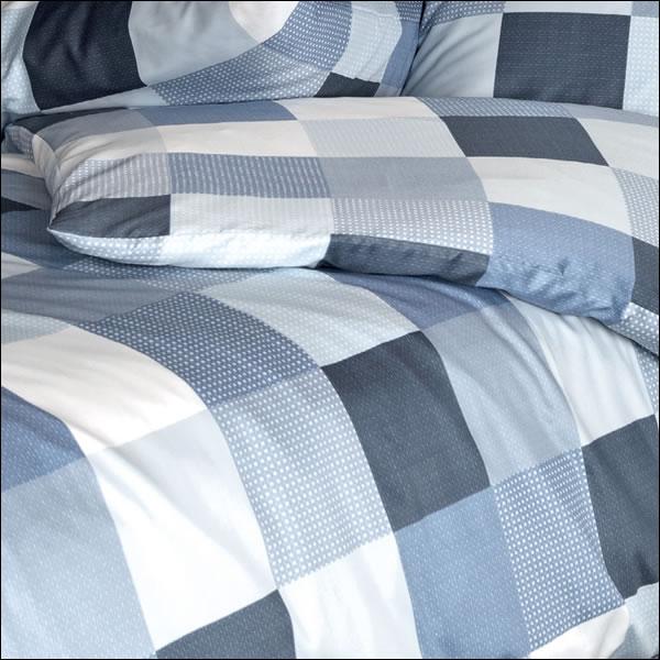 janine mako satin bettw sche moments 98025 02 blau grau wei kariert geometrisch ebay. Black Bedroom Furniture Sets. Home Design Ideas