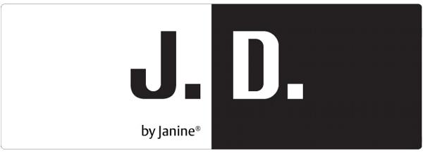 Janine Mako Satin Bettwäsche J.D. Design 8458-02 blau marine weiß ...
