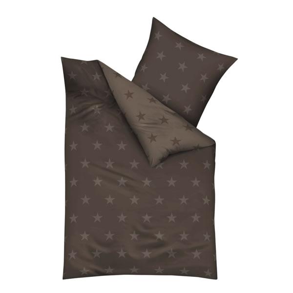 kaeppel biber wende bettw sche stars 3276 sterne braun dunkelbraun modern leinen ebay. Black Bedroom Furniture Sets. Home Design Ideas
